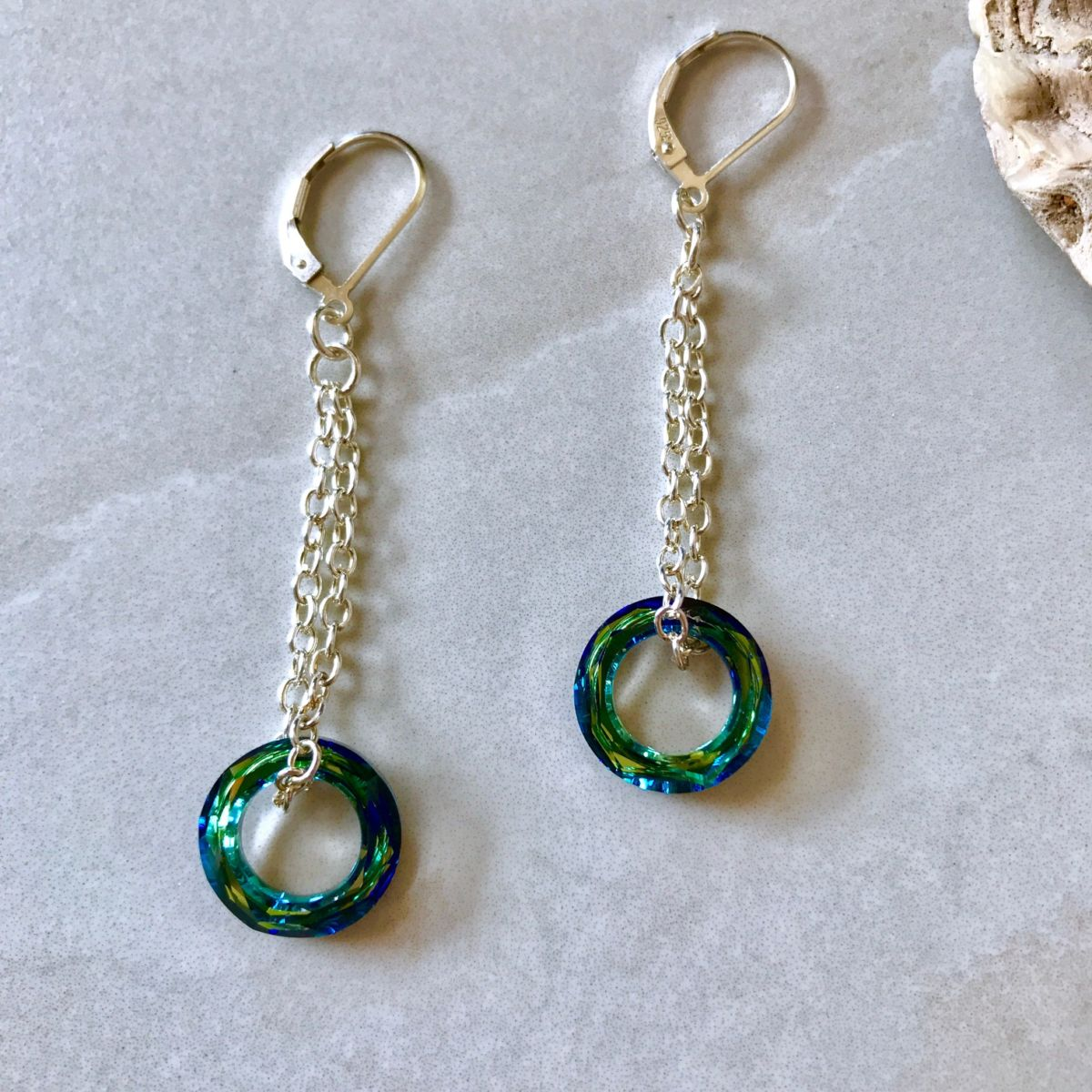 Swarovski Crystal Dangle Silver Earrings. Rated 5.00 out of 5 based on 2 customer ratings